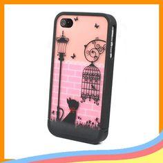 Ero Travel Street Cat Disney Hard Case Back Cover Skin For iPhone 4S 4 4G New