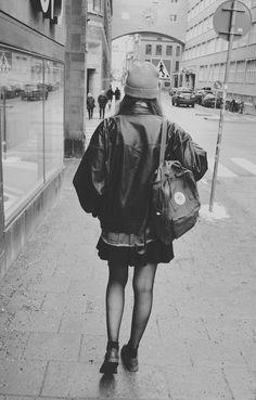 beanie and backpack