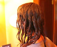 Wet styling naturally curly hair - I do this on my clients who leave damp. A little Kaze Wave by Shu Uemura and then take sections and twist them. It makes beautif consistent curls.