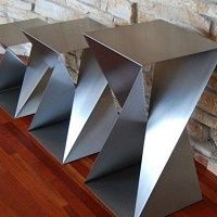 metal furniture Twist Table Bases Custom Metal Home Steel Furniture, Unique Furniture, Furniture Design, Furniture Ideas, Contemporary Furniture, Modern Contemporary, Mesa Metal, Wood And Metal, Stainless Steel Table