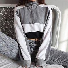 cd88b5d953fb8e  9.99 BB67 Women s Patchwork Hoodie Sweatshirt Long Sleeve Pullover Women s  Blouse Crop Tops Shirt (