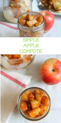 Freshly picked apples covered in cinnamon, butter and brown sugar are the simple ingredients you need to make this Simple Apple Compote! Cinnamon Butter, Bitter, Brown Sugar, Sweet Recipes, Apples, Summertime, Fruit, Vegetables, Simple