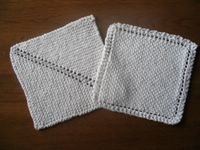 One step knit dishcloth