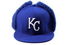 New Era Kid's Kansa City Royals Blue Dog-Ear Winter Hat