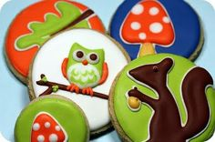 Owls and Squirrels and Mushrooms...(and Oak leaves?)...oh my!
