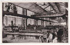 Fabryka Shneider'a w Le Creusot -  Francja, montaż zamków w lufach armatnich wykonanych z odkuwek - początki XX wieku
