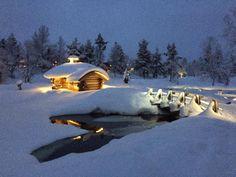 Lappi Finland Lapland Finland, City Landscape, Cabins, Cottages, Tea Lights, Northern Lights, Nostalgia, Landscapes, Blessed