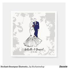 Hochzeit Brautpaar Illustration Tischdekoration Serviette Illustration Blume, Couple Illustration, Wedding Couples, Disney Characters, Fictional Characters, Disney Princess, Art, Newlyweds, Pictures