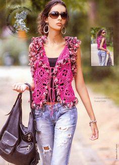 Alkimia: blusa de croche com gráfico      ♪ ♪ ... #inspiration_crochet #diy GB