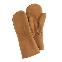 J.Crew - Chester Jefferies mittens : England-based Chester Jefferies has been making high-quality handcrafted leather gloves since 1937 (though members of the Jefferies family were making gloves since the 1820s) and continues to use the same traditional techniques to make hard-wearing, perfect-fitting gloves. This pair, crafted of lambskin from New Zealand and lined in natural wool shearling, is ultracomfortable and superwarm.