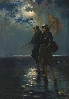 Edward Moran, Moonlight Harvest