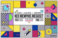318 posters/elements MEMPHIS set! by softulka on @creativemarket