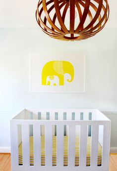 Image of Yellow Elephants Print + Elizabeth Lawson Design