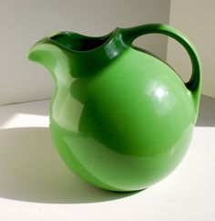 Fiesta ware Hall Ball Pitcher Green by SleepyMouseDesign on Etsy, $35.00