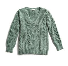 Winter Stylist picks: Green cable knit sweater