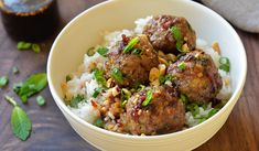 """Vietnamese-Style Meatballs with Chili Sauce - Once Upon a Chef """"Flavor Bombs"""" Chili Sauce, Chili Garlic Sauce, Meatball Recipes, Beef Recipes, Cooking Recipes, Group Recipes, Vietnamese Recipes, Asian Recipes, Food Dinners"""