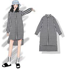 21 ideas fruit design fashion for 2019 Korean Girl Fashion, Korea Fashion, Asian Fashion, Womens Fashion, Dress Sketches, Fashion Sketchbook, Fashion Design Sketches, Kawaii Clothes, Chic Outfits