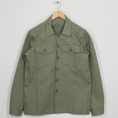 Fatigue Over Shirt - Olive | 3Sixteen | Peggs & son.