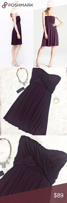 NWT Ann Taylor Plum Purple Bridesmaid Dress This NWT Ann Taylor Plum Purple Dress  is perfect for semi-formal events such as bridesmaids and cocktail parties. Open to offers. No trades. Ann Taylor Dresses Strapless