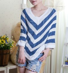 2013 fashion loose women blouse plus size tops pullover hollow out crochet Sweater free shipping from Reliable blouse  $9.99