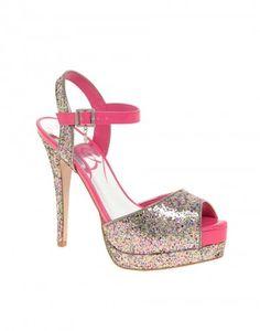 Glitzer-Heels in Pink