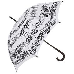 Black White Music Notes Umbrella - Black Notes on White Background - Brolliesgalore Long Umbrella, Under My Umbrella, White Umbrella, Music Items, Music Stuff, Sound Of Music, Music Is Life, Piano Music, Sheet Music