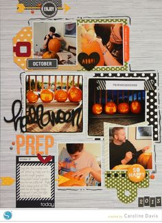 Halloween layout by Caroline Davis