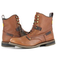 Caterpillar Orson Brown Leather Mens Boots