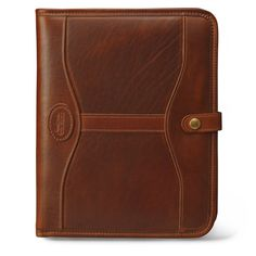 Executive padfolio -- $380 – handmade in St. Paul, MN. This classic, time-worn executive folio is hand-buffed and antiqued from gently distressed American Heritage leather. About the craftsmen: J.W. Hulme has made distinctive luxury leather and canvas products out of St. Paul, MN since 1905. In 1917, Hulme made tents to protect American soldiers against the severe conditions of the Great War. Now, Hulme's character and passion lives on through time-honored techniques and a lifetime…