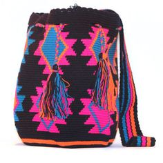 Fab.com | Bright Crocheted Bags & Scarves