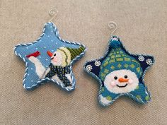 Snowman Ornaments ~ Canvases by Maggie & Co