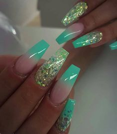 In look for some nail designs and some ideas for your nails? Here's our listing of must-try coffin acrylic nails for cool women. Bling Nails, Swag Nails, My Nails, Glitter Nails, Posh Nails, Grunge Nails, Summer Acrylic Nails, Best Acrylic Nails, Pastel Nails
