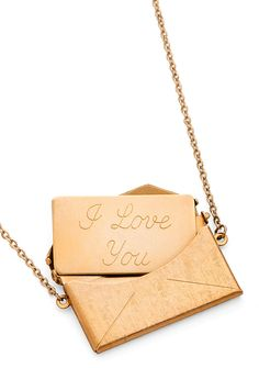 I love you - love letter necklace by jewelmint