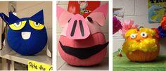 First Grade a la Carte: Pumpkin Characters Literary Characters, Storybook Characters, Book Character Pumpkins, 2nd Grade Ela, Pumpkin Contest, First Grade Classroom, Halloween 2015, School Decorations, Book Projects