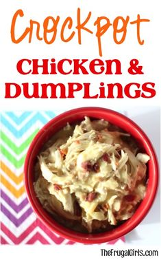 Crockpot Chicken and Dumplings Recipe from TheFrugalGirls.com