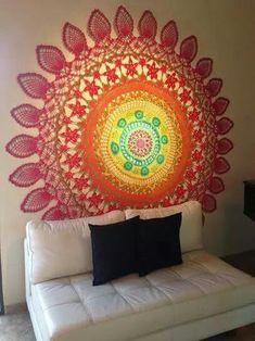 Magnífica decoración con Mandala en Crochet♥ otra opción de la web