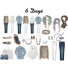 6 days - travel light in 2019 comfortable work outfits moda Mode Outfits, Casual Outfits, Fashion Outfits, Womens Fashion, Travel Outfits, Simple Outfits, Travelling Outfits, Travel Attire, Fashion Ideas