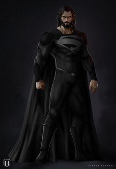 Character concept for Superman ( black suit ) Superman Black Suit, Superman Man Of Steel, Batman Vs Superman, Spiderman, Superman Ring, Superman Stuff, Marvel Comics, Arte Dc Comics, Anime Comics