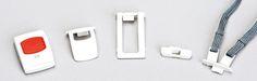 Hausnotruf Sender auch mit Halsband tragbar oder Clip - GenoVital