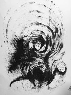 Black art drawing