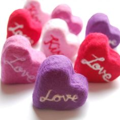 pretty ... Heart Felted Soaps
