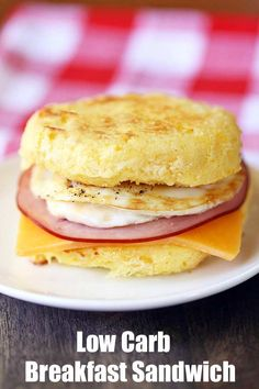 """A delicious, filling low carb breakfast sandwich that really hits the spot when you miss """"the way you used to eat."""""""
