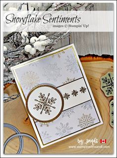 Snowflake Sentiment for Freshly Made Sketches card by Sandi @ stampinwithsandi.com, Try this quick and easy 10 minute or less card - click the image for details and supply List: stampin up Snowflake Sentiments, stampin with sandi, sandi maciver, Card Making Blog, Paper Crafting Blog, Canadian Stampin Up Demonstrator Blog, Stampin Up Card ideas