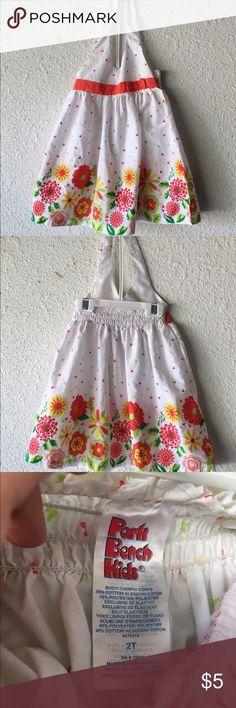 Little Girl's Halter Style Dress Size 2T Park Bench Kids Dresses Casual
