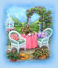 pp Cottage Art, Rose Cottage, Penny Parker, Susan Wheeler, Creation Photo, Flower Art, Art Flowers, Digi Stamps, Pretty And Cute