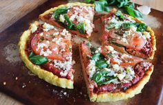 The perfect Coconut Flour Pizza Crust. Gluten free and so easy to make.