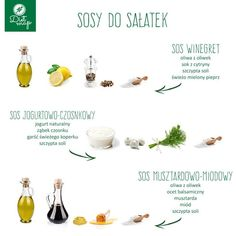 Sosy do sałatek Quick Dinner Recipes, Fett, Tasty Dishes, Grilling, Clean Eating, Good Food, Food And Drink, Lunch, Meals