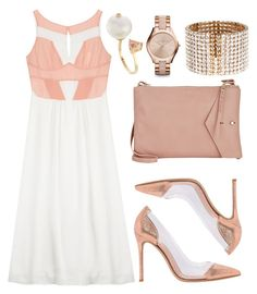 """Pink + White"" by cherieaustin ❤ liked on Polyvore featuring Paul & Joe, Gianvito Rossi, Delfina Delettrez, Thakoon, Michael Kors and Carolina Herrera"