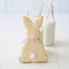 rabbit butter cookies with a cotton candy tail (filled with chocolate cream).  SO CUTE!!!!