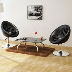 2x Chesterfield Faux Leather Club Chairs in Black   Buy Furniture